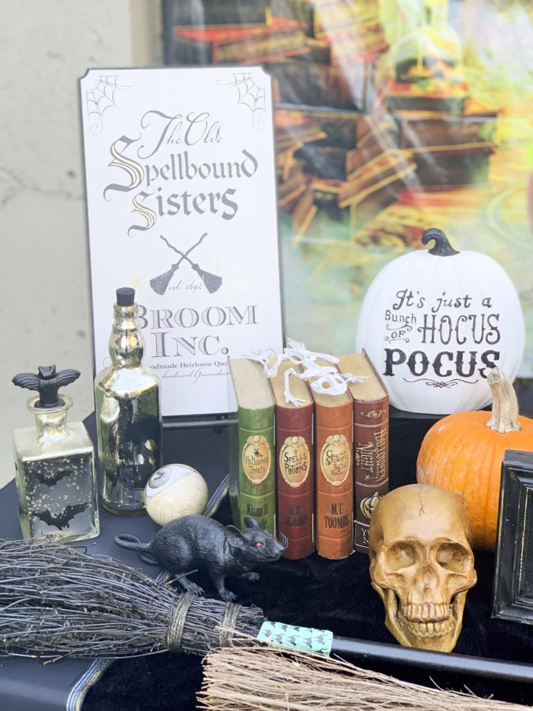 halloween community festival witches table