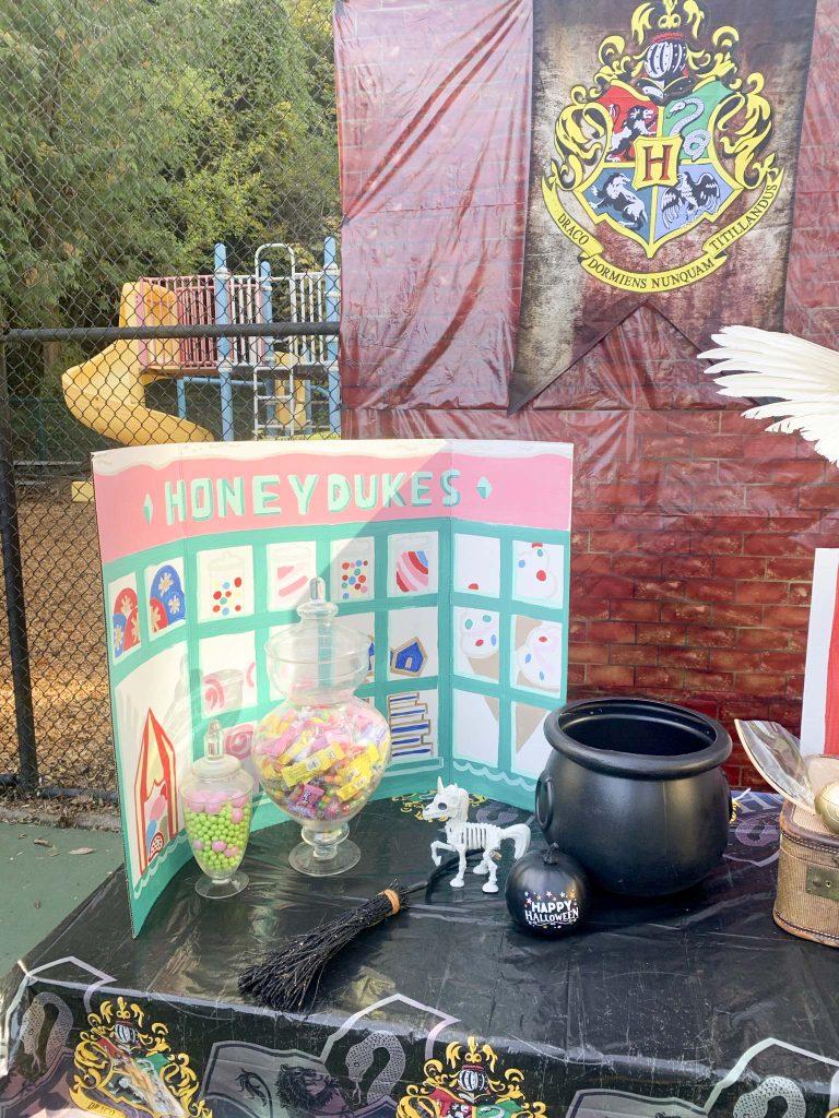 halloween community festival harry potter table