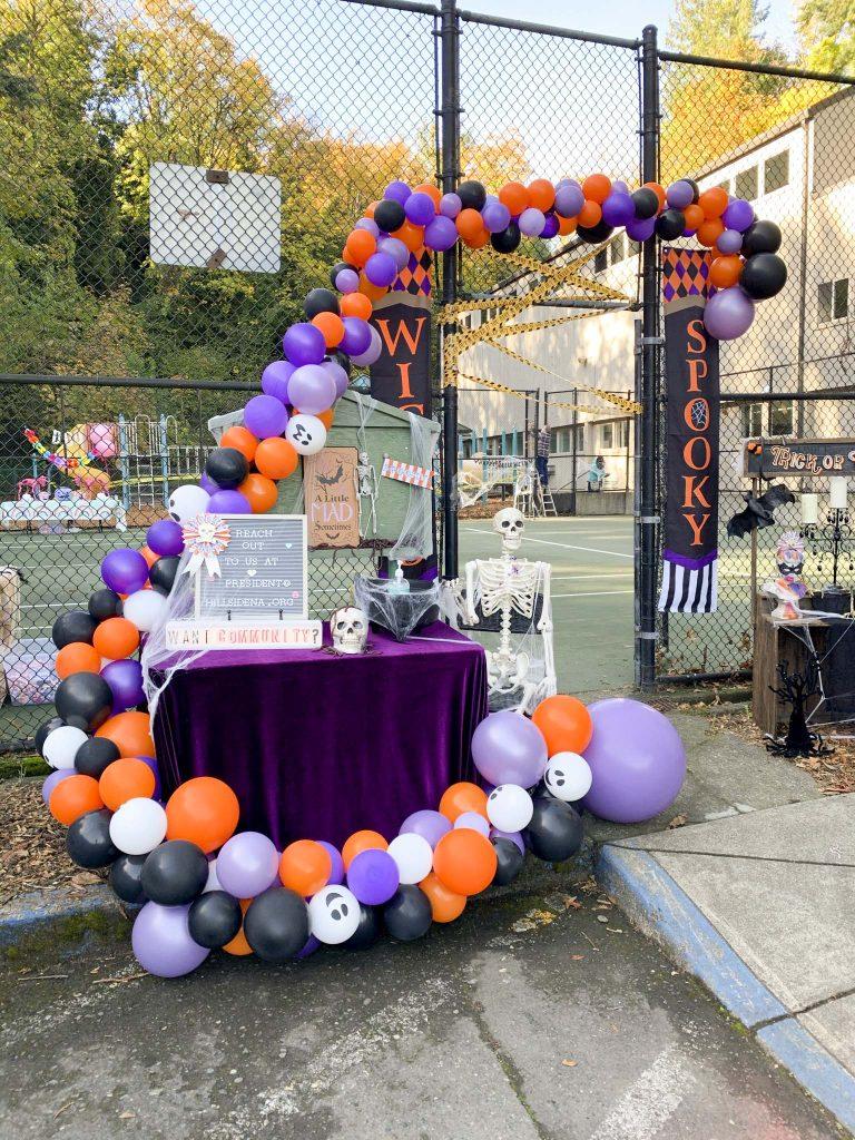 halloween community festival entrance