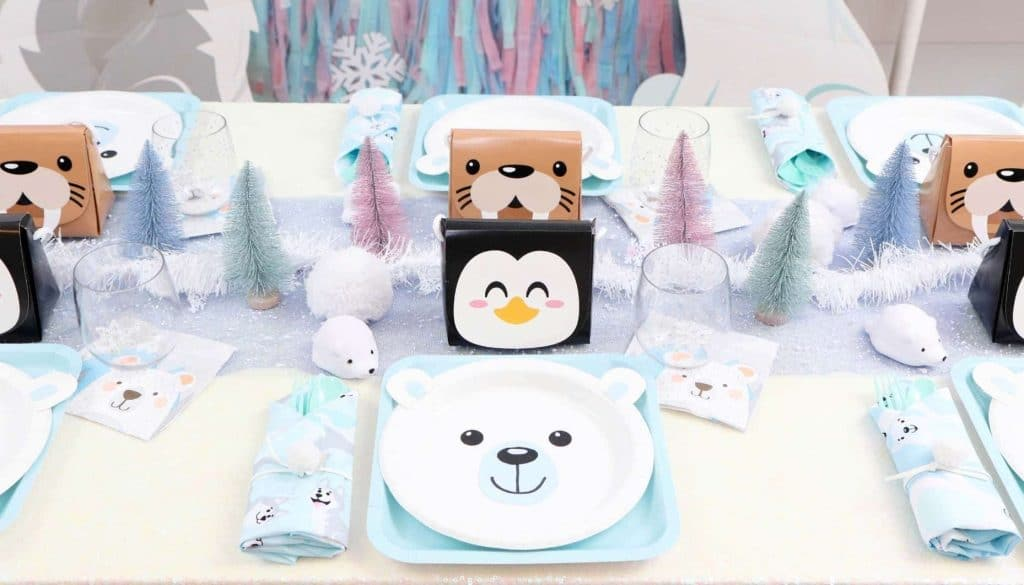 Arctic Animals Winter Wonderland Party Place Settings