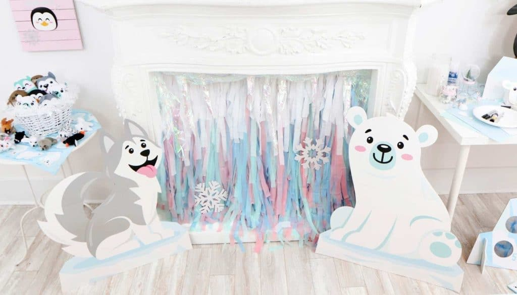 Arctic Animals Winter Wonderland Party DIY Backdrop