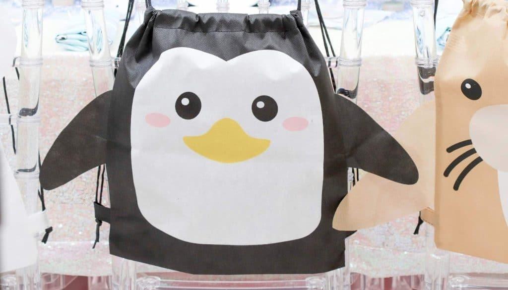 Arctic Animals Winter Wonderland Party favor bags