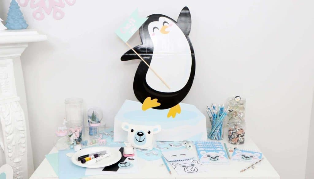 Arctic Animals Winter Wonderland Party Craft Station