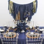 MORE Navy and Gold Christmas Party Inspiration