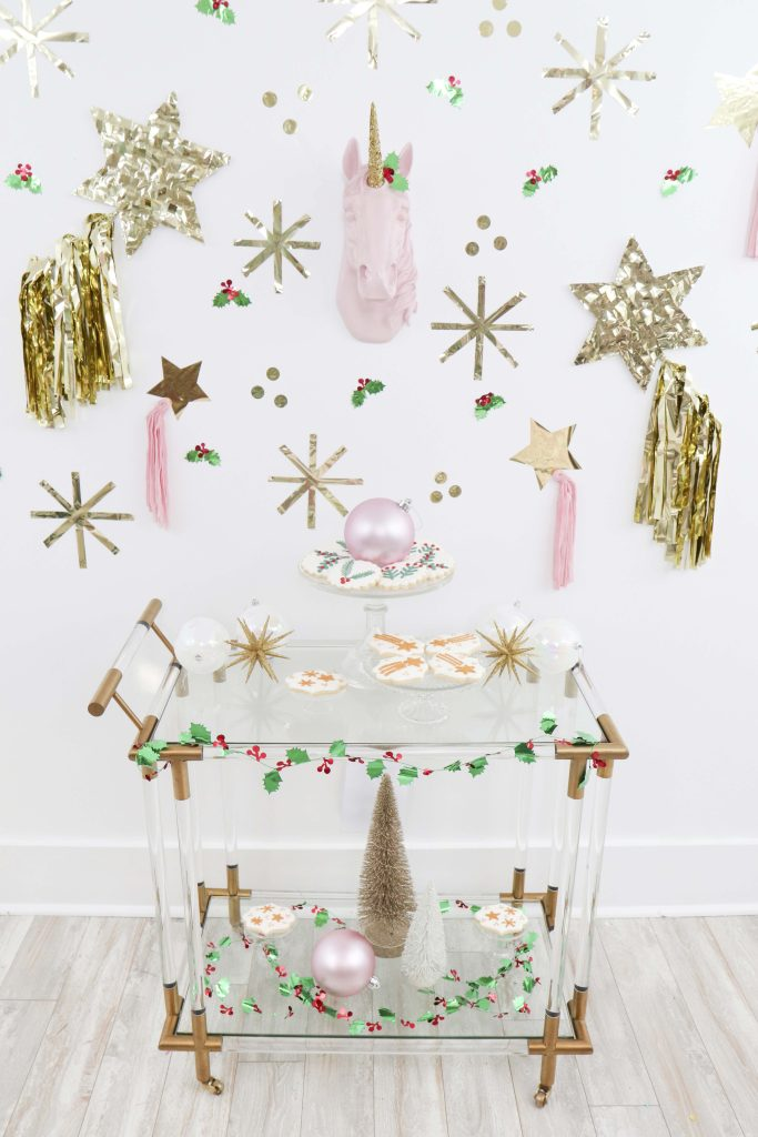 Magical Unicorn Christmas party dessert cookie cart
