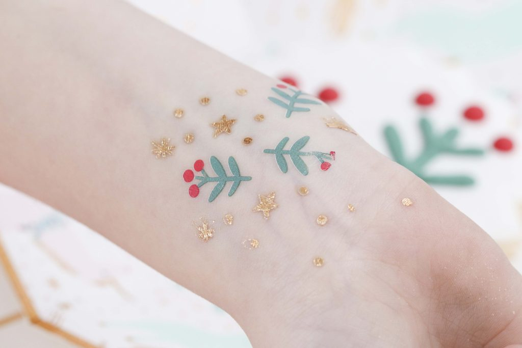 Magical Unicorn Christmas party temporary tattoo favors