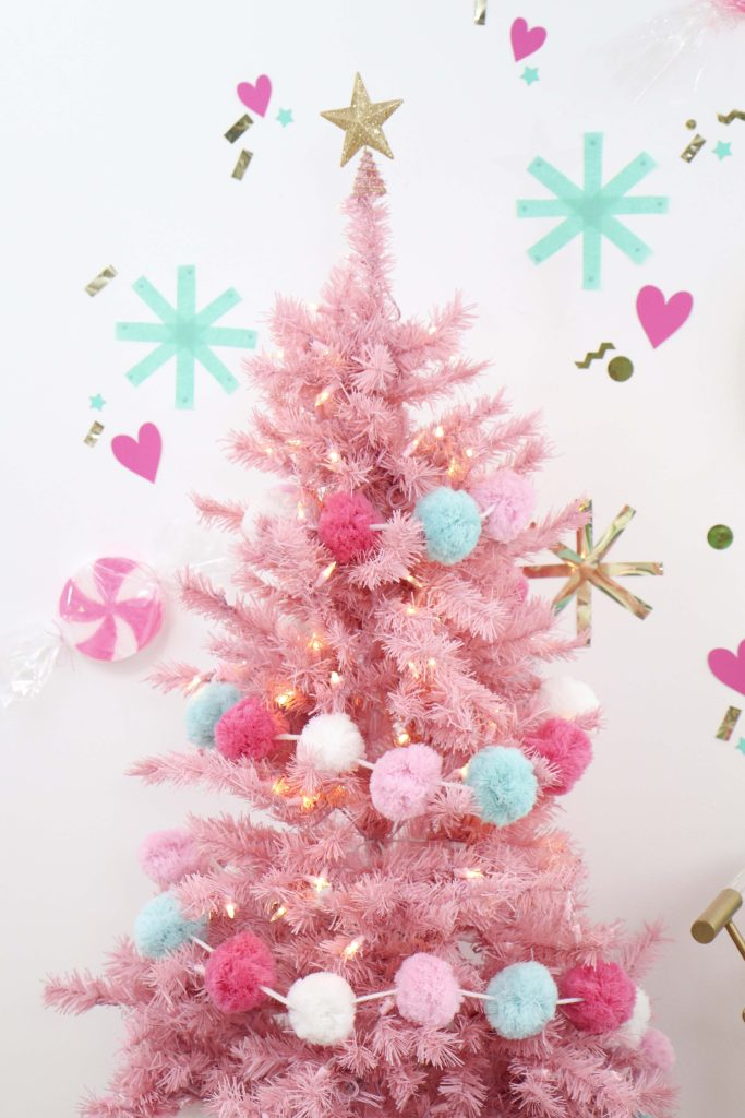 Making Spirits Bright Neon Holiday Party pink Christmas tree