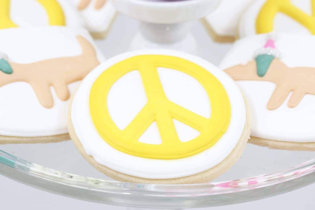 Making Spirits Bright Neon Holiday Party cookies