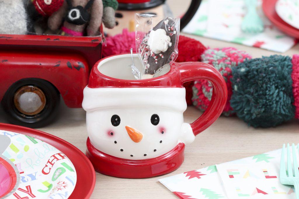 Pom Pom Party for the Holidays hot cocoa mug