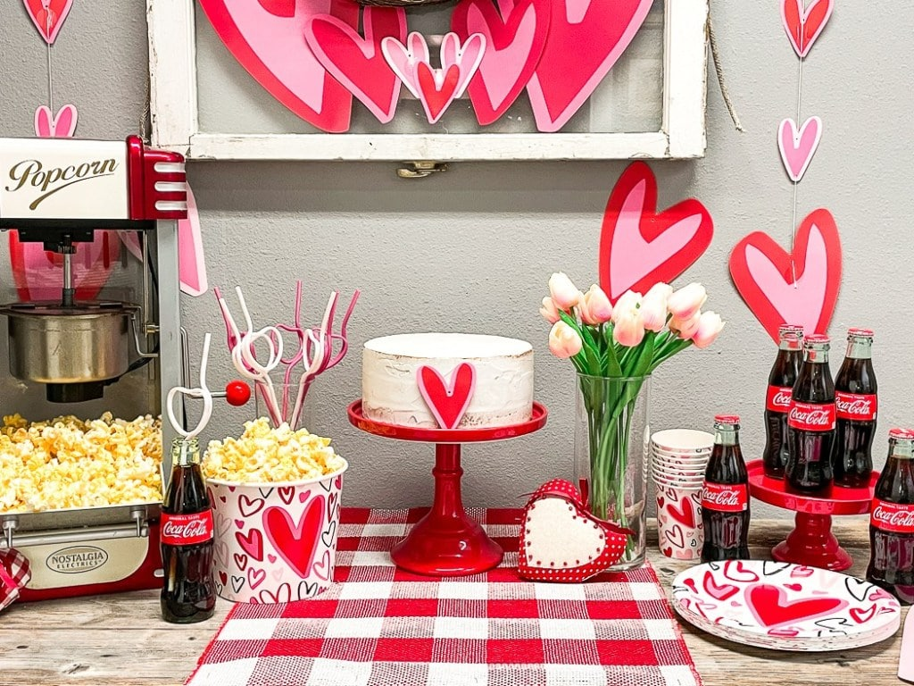 Valentine's Day Movie Party - These fun 15 Valentine's Day Party Ideas for Kids and Teens feature tons of interactive activities, decor inspiration, and DIY dessert recipes! See them all now at fernandmaple.com!