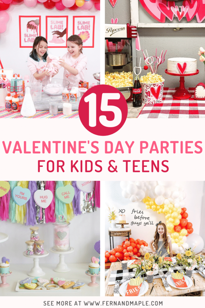 These fun 15 Valentine's Day Party Ideas for Kids and Teens feature tons of interactive activities, decor inspiration, and DIY dessert recipes! See them all now at fernandmaple.com!