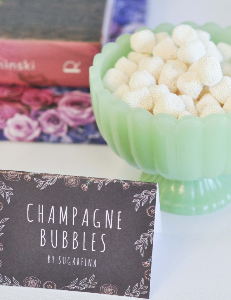 Champagne Candy for a floral arranging party - get details now at fernandmaple.com!