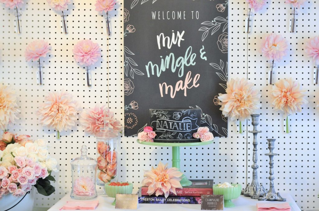 Dessert Table for a floral arranging party - get details now at fernandmaple.com!