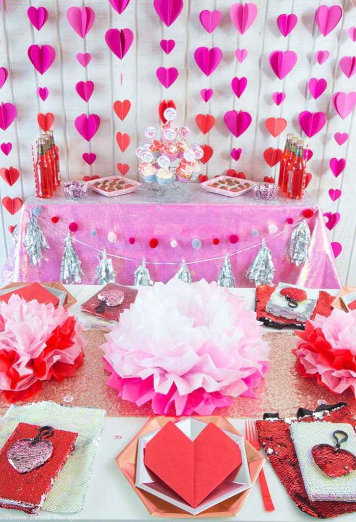Galentine's Party for Teens - These fun 15 Valentine's Day Party Ideas for Kids and Teens feature tons of interactive activities, decor inspiration, and DIY dessert recipes! See them all now at fernandmaple.com!