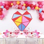 Geometric Heart Valentine's Day Party and DIY Backdrop