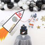 Easy DIY Rocket Ship Space Party Backdrop