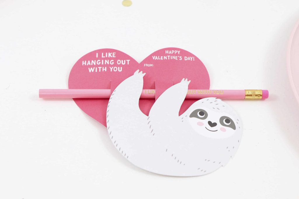 Valentines for a Pink Sloth Party for Kids - get details now at fernandmaple.com!