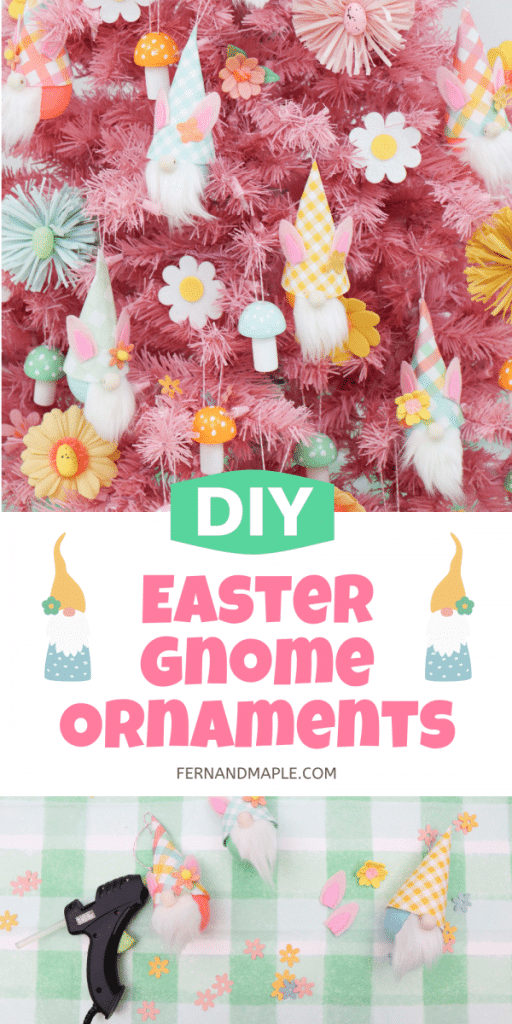 How to create the cutest pastel-colored Easter Gnome Ornaments, perfect for an Easter tree, Easter party, or anywhere around the house for Spring!