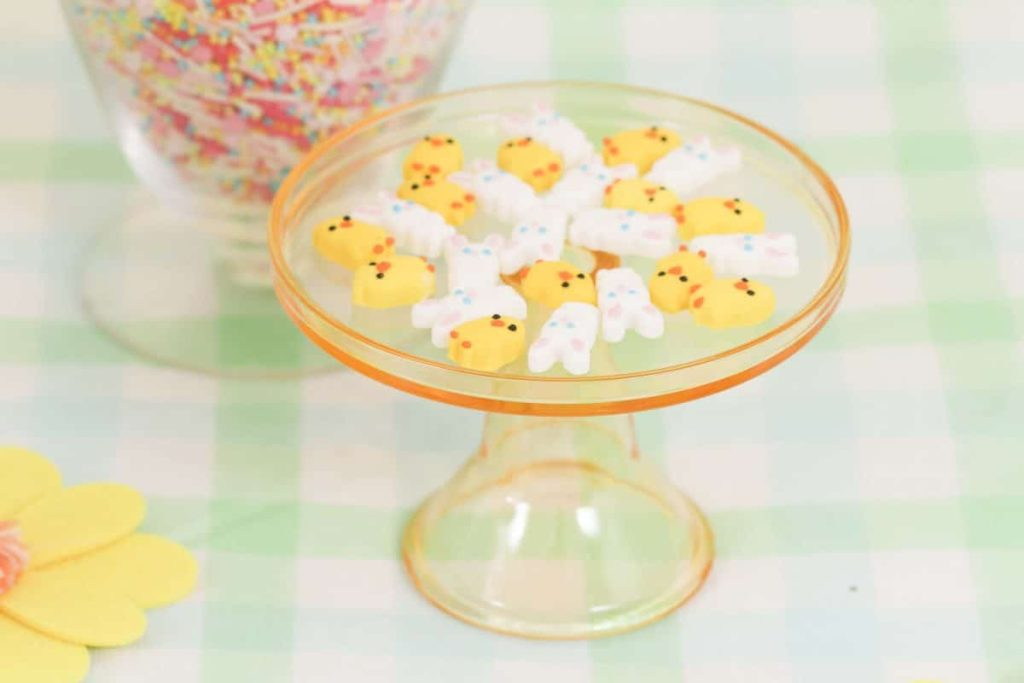 Spring candies for a Spring Gingerbread House decorating party - get more Spring Party inspiration now at fernandmaple.com!