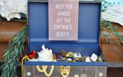 DIY Easy & Affordable Pirate Party Treasure Decor