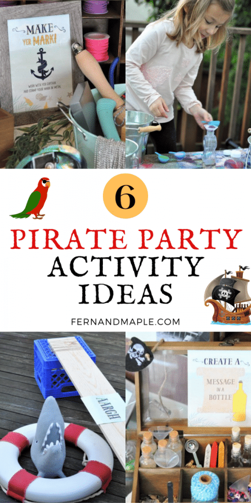 These 6 Activity and Craft Ideas for a Pirate Themed Party are great forencouraging creativity, while ensuring the kids are staying entertained! Get details now at fernandmaple.com!