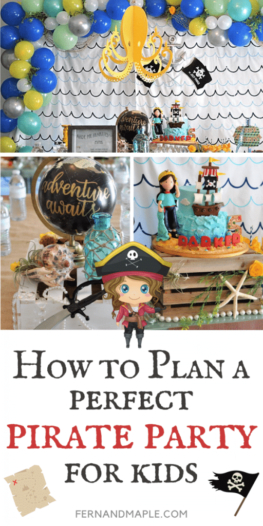 Tons of ideas for how to create the Perfect Pirate Party for Kids of any gender! With DIY backdrop & decor, desserts, activities, favors and more! Get details now at fernandmaple.com!