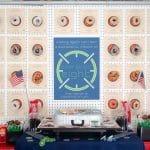 Spy Themed Party Dessert Table Ideas with DIY Donut Wall