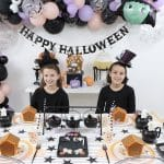 Little Witch's Halloween Gingerbread House Decorating Party